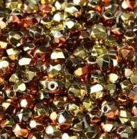 50 pack 3 mm Fire Polished California Gold Rush 00030 98542
