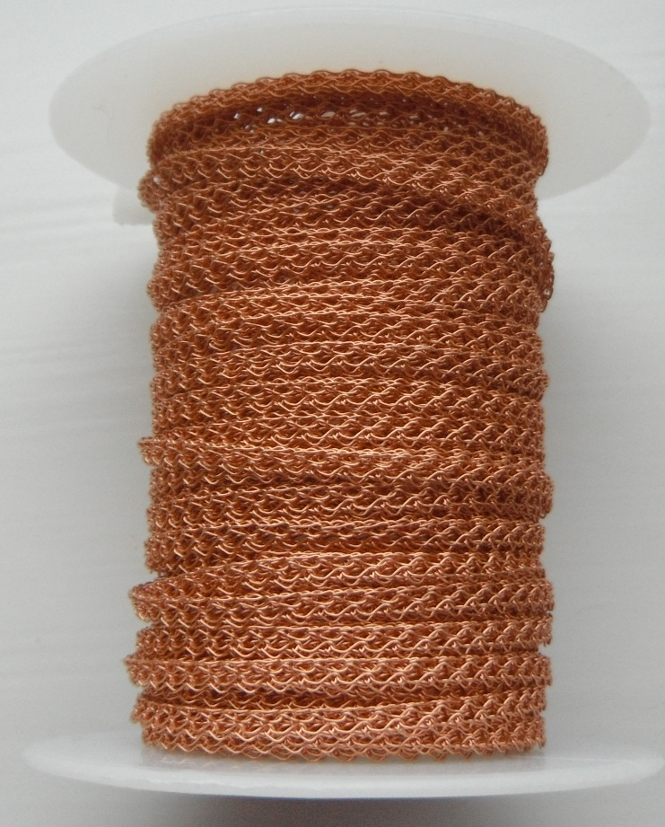 4 needle 2.2 mm wide Copper. Price per 10cm