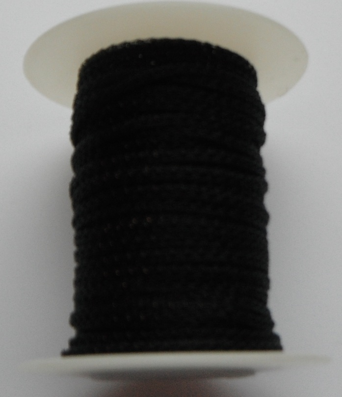 4 needle 2.2 mm wide Black.  Price per 10cm