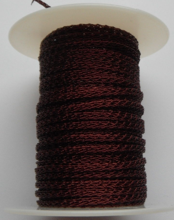 4 needle 2.2 mm wide Burgundy. Price per 10cm