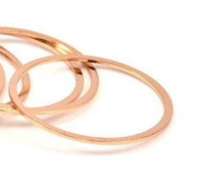 40x2x1mm Rose Gold Plated Circle Link