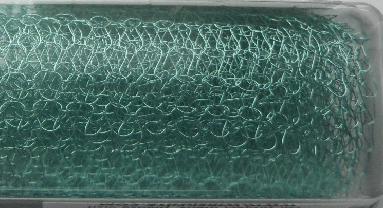 A 9 inch length of 4000 Series WireKnitZ Seafoam