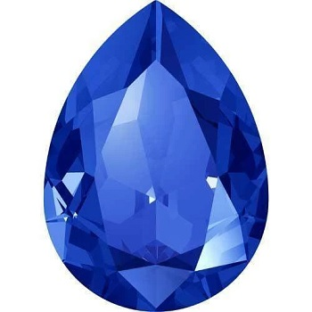 4327 30x20mm Pear Drop Majestic Blue Foiled