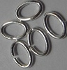 4mm Oval Sterling Silver Jump Rings 20 pack