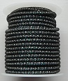 Black wire over 2mm Silver Plated bead chain Price per 10cm