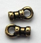 1.4mm antique brass plated pewter crimp ends.Sold per pair