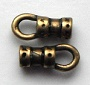 2mm antique gold plated pewter crimp ends.Sold per pair
