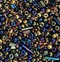 A 25 gram mix of Czech seed beads,  Metallic
