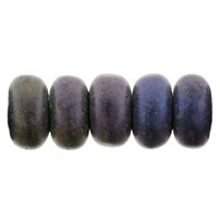 100 pack 3mm Czech glass Rondelles Matte Iris Purple 21195