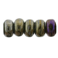 100 pack 3mm Czech glass Rondelles Iris Brown 21415