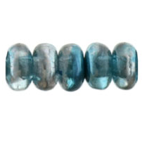 100 pack 3mm Czech glass Rondelles Mirror Teal K5513