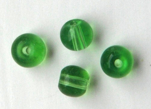 Chinese 4 mm round glass beads 50 in pack Green