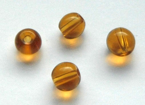 Chinese 4 mm round glass beads 50 in pack Gold