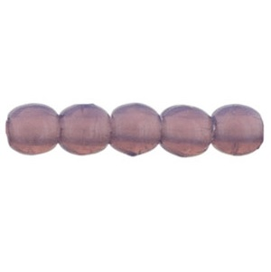 100 Czech 2mm round glass beads Milky Amethyst 21010