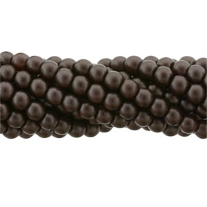 100 Pack 2mm Czech Glass Pearls Bistre 25036
