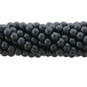 100 Pack 2mm Czech Glass Pearls Charcoal 25037