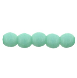 100 Czech 2mm round glass beads Turquoise 6313