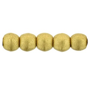 100 Czech 2mm round glass beads Matte Metallic Flax K0171