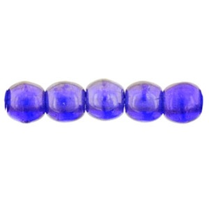 100 Czech 2mm round glass beads Lustre Iris Cobalt LR3009