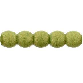 100 Czech 2mm round glass beads Pacifica Avocado PS1005