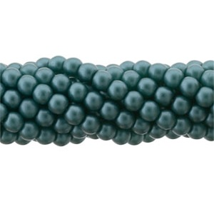 100 Pack 3mm Czech Glass Pearls Teal 25027