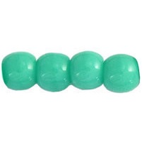 100 Czech 3mm round glass beads Turquoise 6313