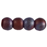 100 Czech 3mm round glass bead Matte Lustre Met Amethyst MB15726