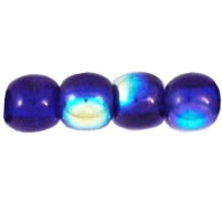 100 Czech 3mm round glass beads Cobalt AB X3009