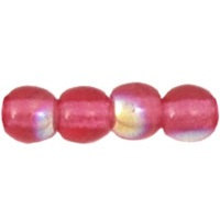 100 Czech 3mm round glass beads Fuchsia AB X7035