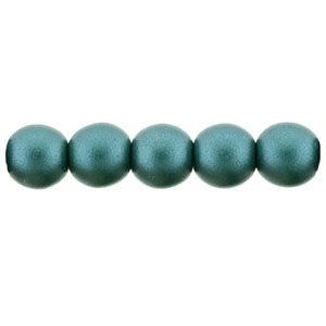 50 Pack 4mm Czech Glass Pearls Teal 25027