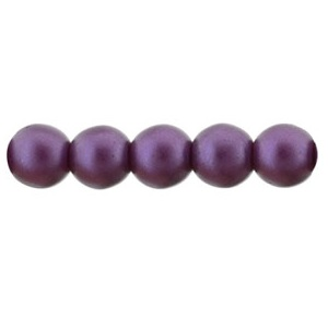 50 Pack 4mm Czech Glass Pearls Purple Velvet 25032