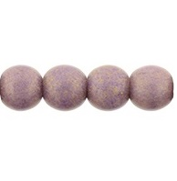 100 Czech 4 mm round glass beads Pacific Fig PS1008