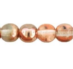 50 Czech 6mm round glass beads Apollo Gold 27101