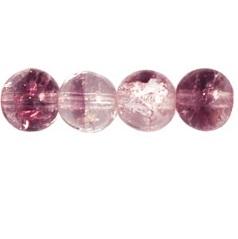 50 Czech 6mm round crackle glass beads Rosaline/Amethyst 27701