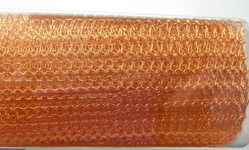 A 9 inch length of 5000 Series WireKnitZ Goldenrod