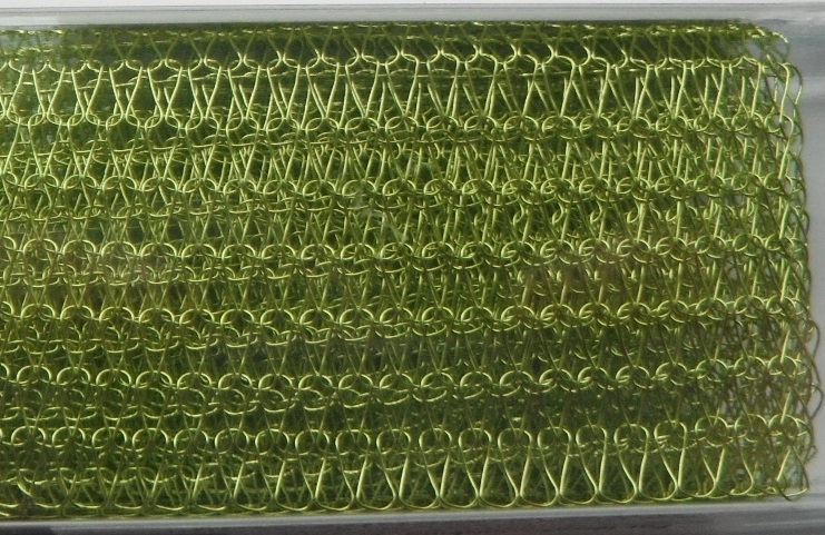 A 9 inch length of 5000 Series WireKnitZ Chartreuse