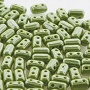 10 grams Rulla Beads Opaque Green White Lustre 53410 14400