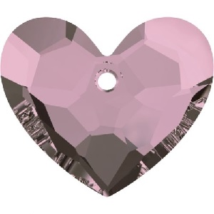 18mm 6264 Truly in Love Heart Crystal Antique Pink