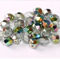 25 pack 6 mm Fire Polished Crystal Vitrail 00030 28101