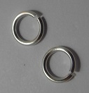 JRSNF06 Silver Colour Nickel Free 6mm Jump Rings 50 pack