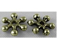 ABLNF19 8mm A. Bronze Lead and Nickel Free Snowflake 50 pack