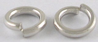 8mm Patera .999 Antique Silver Plated Brass Jump Rings 10 pack