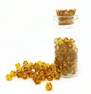 100 Pack 3mm Chinese Bicones Amber 14