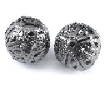 Bl02 8mm Gunmetal Filigree Round 22 pack