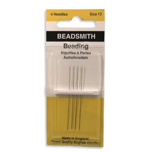 4 Pack Size 13 Long Beading Needles