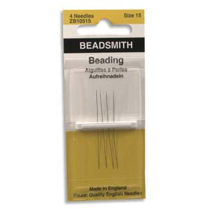 4 Pack Size 15 Long Beading Needles