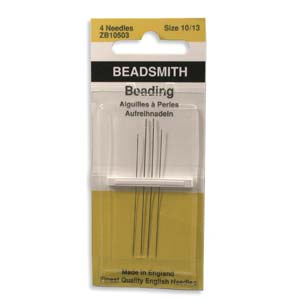4 Pack Size Assorted Long Beading Needles