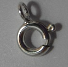 6mm Sterling Silver Bolt Ring Clasp 5 pack
