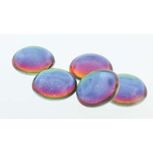 18 mm Round Cabochon Backlit Petroleum 00030 26601