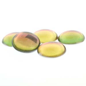 18 mm Round Cabochon Backlit Pink/Citrine 10010 26536